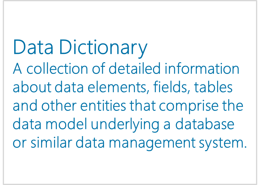 Data Dictionary - Interactive Report